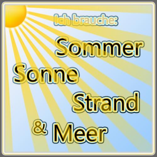 Sommer Sonne Strand Meer - Männer Premium T-Shirt