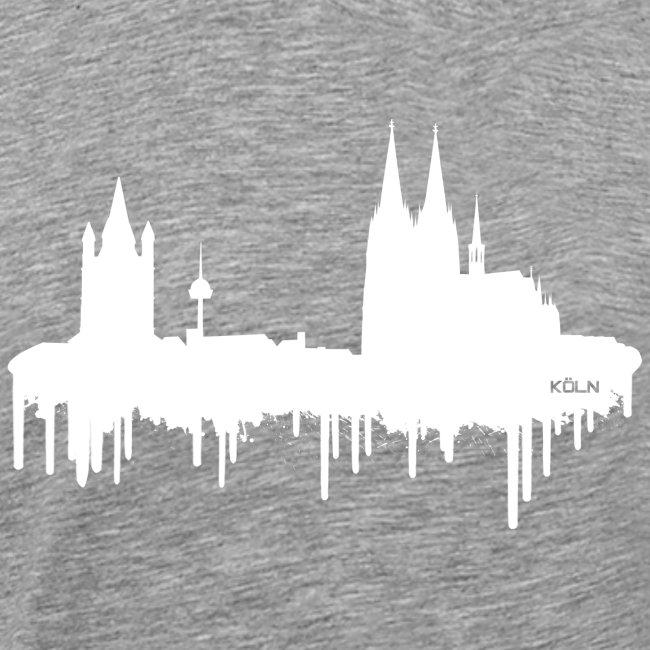 Skyline Köln - Weiß