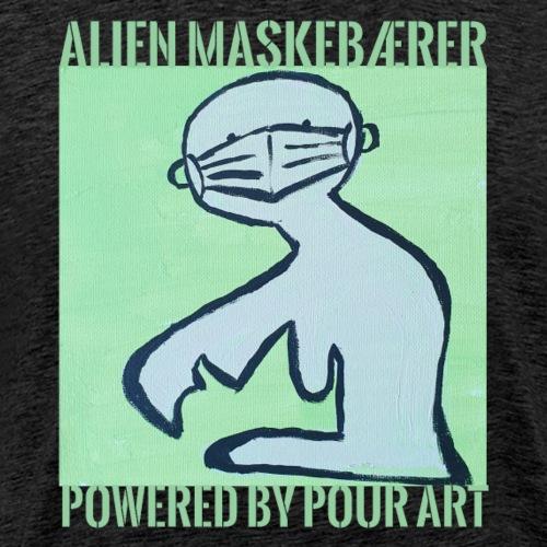 alien maskebærer - Herre premium T-shirt