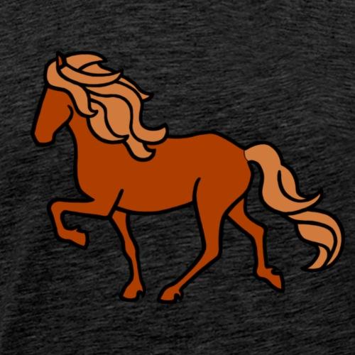 Islandpferd, Fuchs, heller - Männer Premium T-Shirt