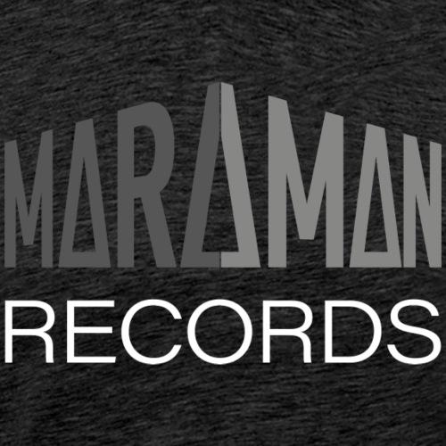 Maraman Records logo harmaa-valkoinen - Miesten premium t-paita