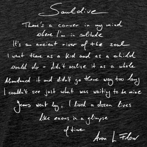 Souldive Text white - Männer Premium T-Shirt