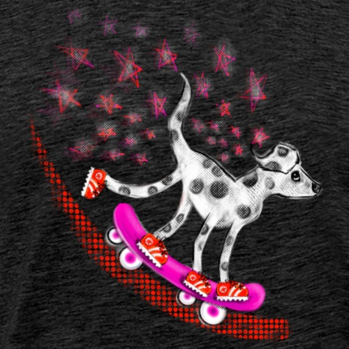 Spotty Skateboarder - Men's Premium T-Shirt