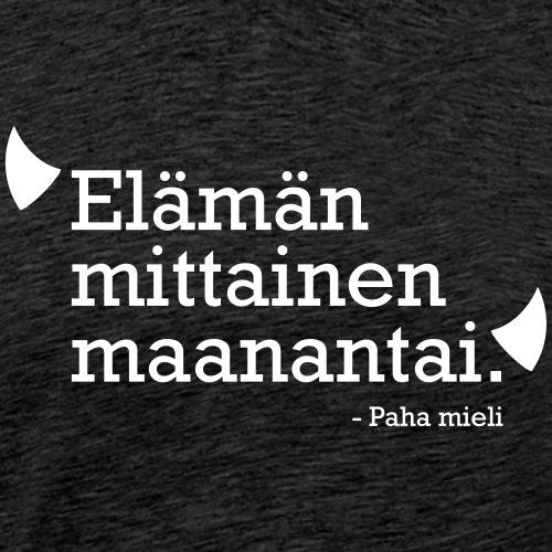 Elämän mittainen maanantai - Miesten premium t-paita