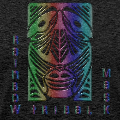 Rainbow Tribal Mask - Camiseta premium hombre