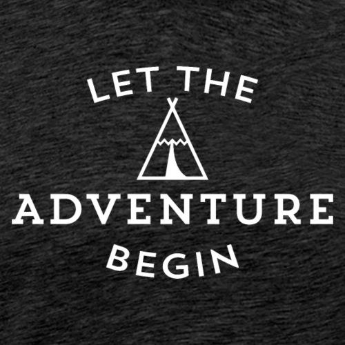 let the adventure - Camiseta premium hombre