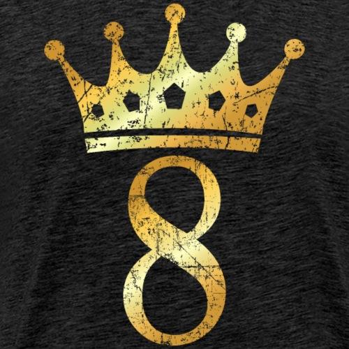 Krone Nummer 8 (Vintage Goldgelb) 8. Geburtstag - Männer Premium T-Shirt