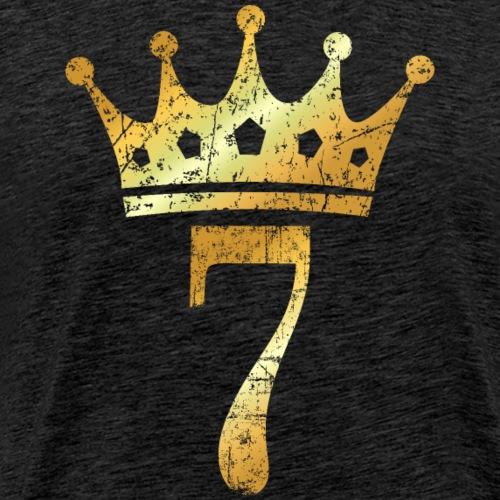Krone Nummer 7 (Vintage Goldgelb) 7. Geburtstag - Männer Premium T-Shirt