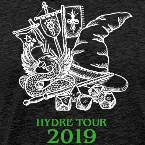 Hydre Tour 2019 (blanc/vert) - T-shirt Premium Homme