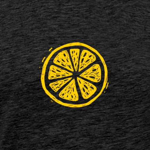 Fructus Logo The Fruit Yellow - Men's Premium T-Shirt