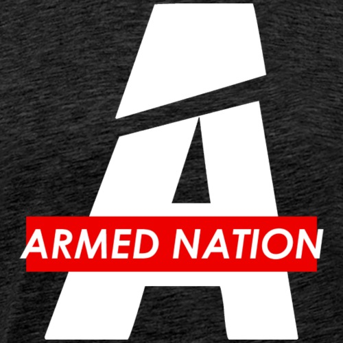 A WHITE - ARMED NATION RED BOX LOGO 2021 - Männer Premium T-Shirt