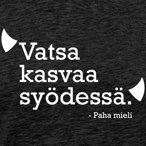Vatsa kasvaa syödessä - Miesten premium t-paita