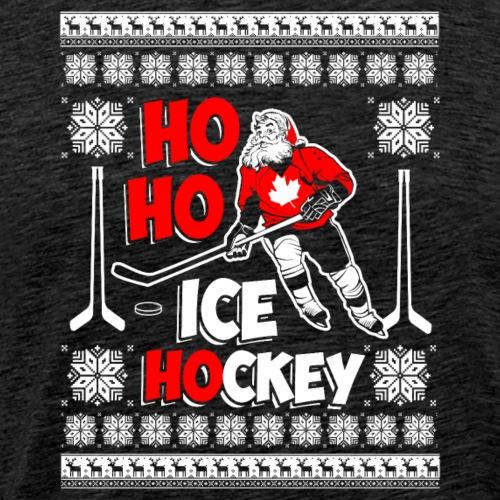 Lustiges Cooles Eishockey Geschenk Weihnachten - Männer Premium T-Shirt
