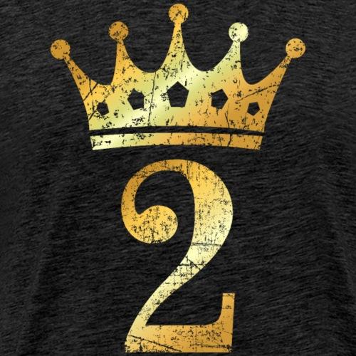 Krone Nummer 2 (Vintage Goldgelb) 2. Geburtstag - Männer Premium T-Shirt