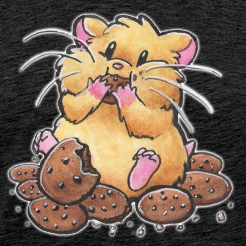 Cookie Hamster - Männer Premium T-Shirt