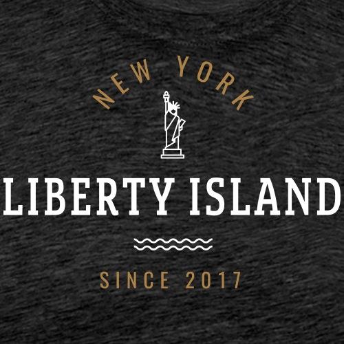 NEW YORK - LIBERTY ISLAND - Maglietta Premium da uomo