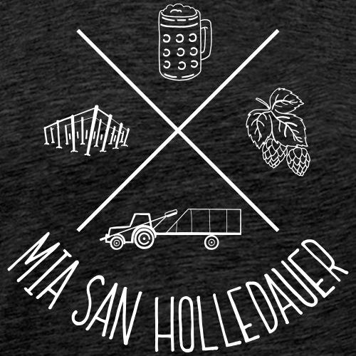 MiaSanHolledauerBuam - Männer Premium T-Shirt