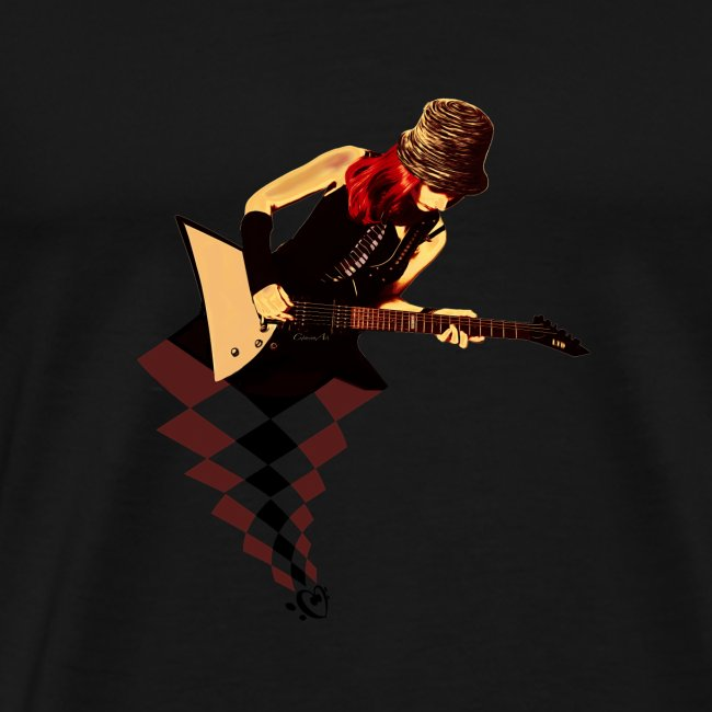 The woman on the guitar
