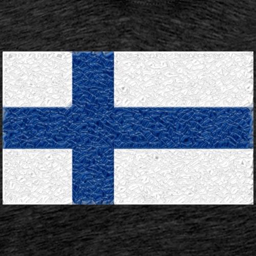 Finland flag crystal - Men's Premium T-Shirt