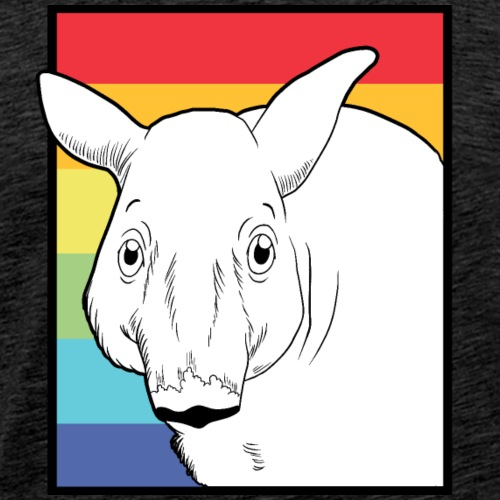 Tapir mit Regenbogen Farben - Männer Premium T-Shirt