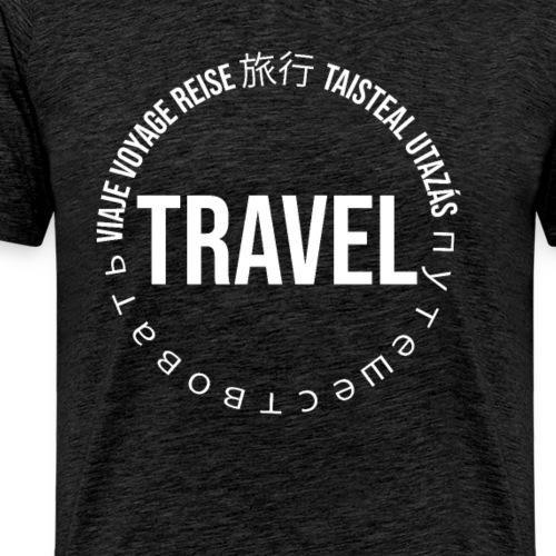 Reisen Weltreise Travelshirt Sprachen - Männer Premium T-Shirt