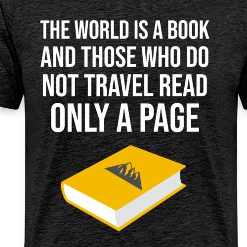 Reisen Weltreise Travelshirt Buch - Männer Premium T-Shirt