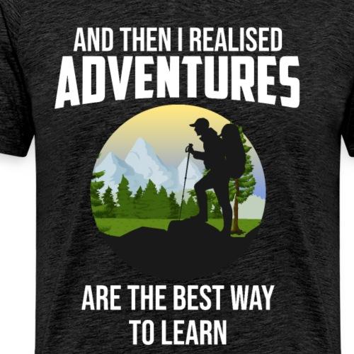 Reisen Weltreise Flugzeug Travelshirt Abenteuer - Männer Premium T-Shirt