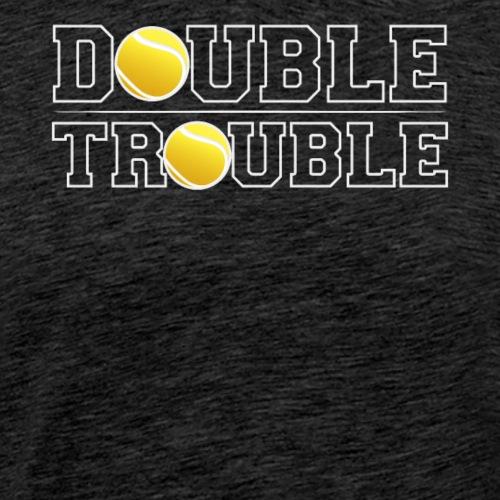 Double Trouble Funny Tennis - Männer Premium T-Shirt