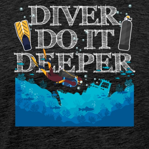 Divers Do It Deeper - Männer Premium T-Shirt