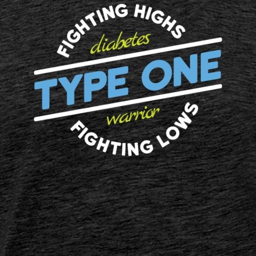 t1d fighting highs fightings lows blue green 01 - Mannen Premium T-shirt