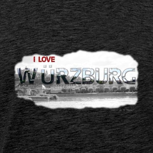Wuerzburg Schrift DH LOVE Stadt - Männer Premium T-Shirt