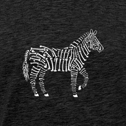 Zebra-Knochen - Männer Premium T-Shirt