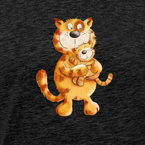 Geschwister Katzen I Katze Mama mit Baby - Männer Premium T-Shirt