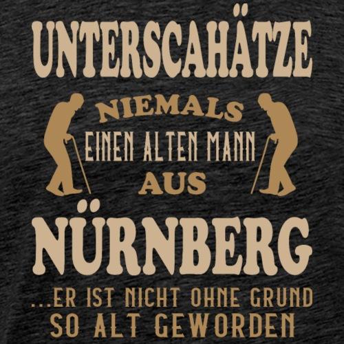 Alter Mann, Nürnberg, Franken, Lustig, Ansbach - Männer Premium T-Shirt