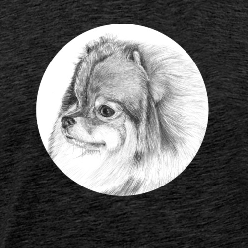 pomeranian - M - Herre premium T-shirt