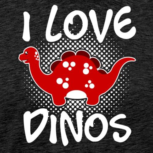 I love Dinos v2 - Männer Premium T-Shirt