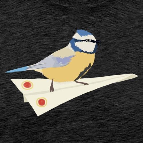 Blaumeise Papierflieger - Männer Premium T-Shirt