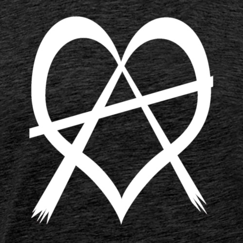 love anarchy white - Men's Premium T-Shirt