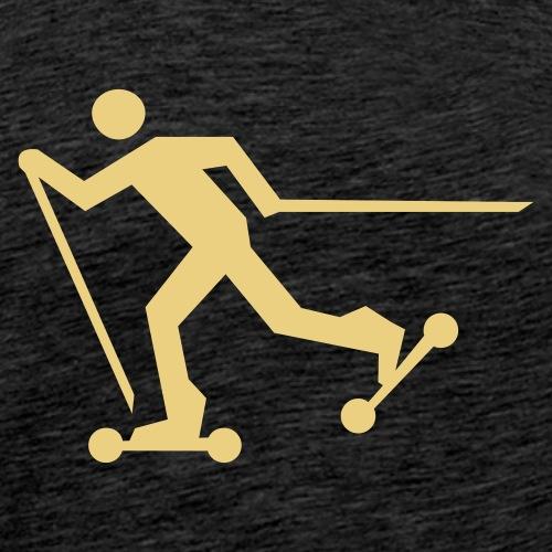 Nordic Skating - Männer Premium T-Shirt