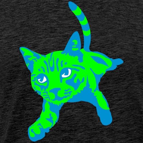 Jumping Cat - Mannen Premium T-shirt