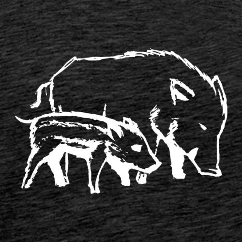 Schweine weiss - Männer Premium T-Shirt
