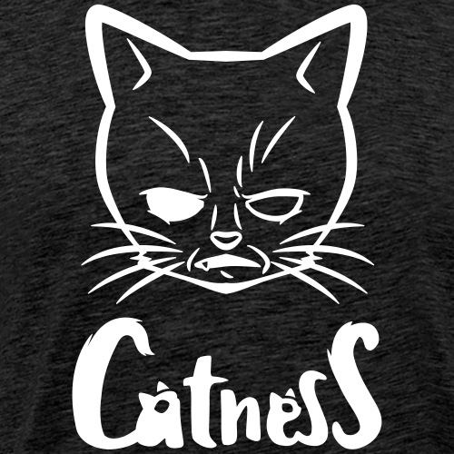 Mad-Cat / white - Männer Premium T-Shirt