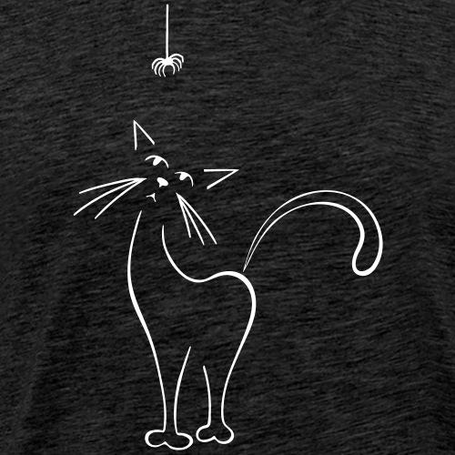 Cat and Spider - Men's Premium T-Shirt