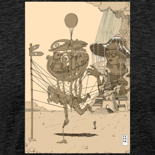 Two Paths. Sepia - Männer Premium T-Shirt