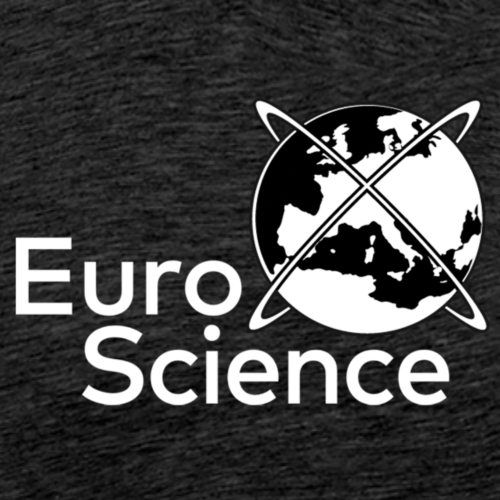 EuroScience logo - white - Men's Premium T-Shirt