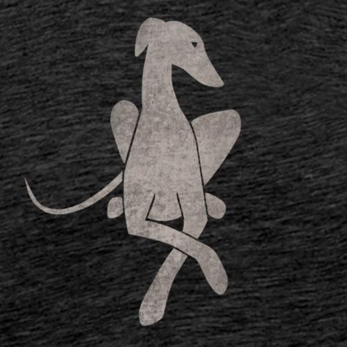 Liegender Windhund hellgrau - Männer Premium T-Shirt