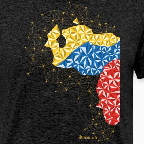 Venezuela en el Pecho - Camiseta premium hombre