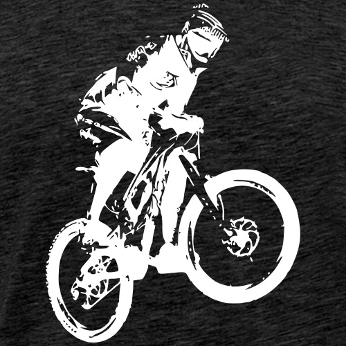 Mountainbike Action - Männer Premium T-Shirt