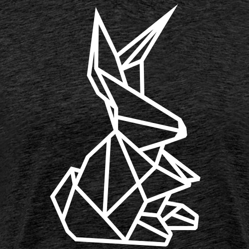 Origami Kunst Hase Zwergkaninchen Kaninchen in - Männer Premium T-Shirt