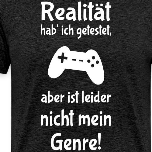Coole Gamer Nerd Sprüche Zocken Realität - Männer Premium T-Shirt